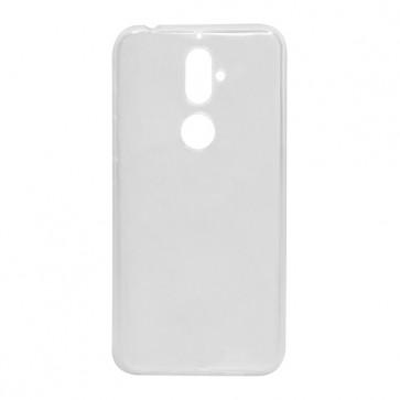Capac protectie slim silicon alb semitransparent X4 Soul